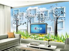 3D Garten Bäume 734 Tapete Wandgemälde Tapete Tapeten Bild Familie DE Summer