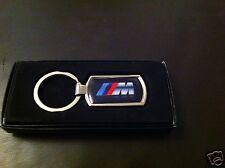 BMW M SERIES METALLIC CHROME CHUNKY KEYRING, BMW KEY RING, M SERIES, GIFT