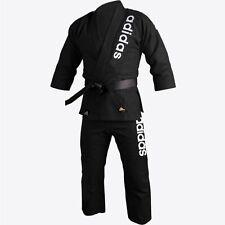 New adidas Jiu Jitsu Brazilian Kimono 24oz Gi Uniform Double Weave BJJ Gi-BLACK