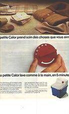 PUBLICITE advertising 1976   CALOR la petite machine à laver