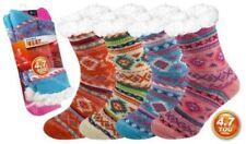 Ladies Thermal Socks 4.7 Tog Fleece Sherpa Lining Double Heat Insulated Winter