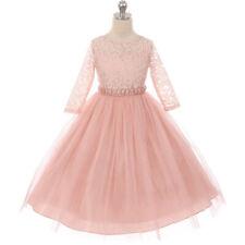 BLUSH Flower Girl Dress Birthday Formal Prom Party Graduation Dance Rectical