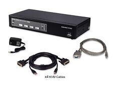 [ConnectPro]UD-14+ Industrial Grade 4-Port KVM Switch *Vinyl Wrap Available*