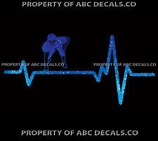 VRS Heart Beat Line FOOTBALL Linemen Lineman Helmet Gloves Line CAR METAL DECAL
