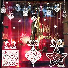 DECO NOËL GUIRLANDE STICKER Déco fenêtre, vitrine, magasin mural + 22 étoiles !