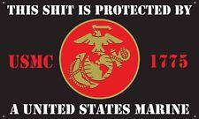 Usmc 3'X5' Wide Vinyl Banner Man Cave Garage Sign Veteran War Flag Marine Corp