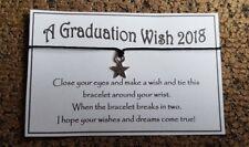 Graduation Wish * Wish Bracelet * Star Charm * Friendship * Gift * Favour