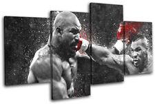 Mike Tyson Boxing Grunge Sports MULTI LONA pared arte Foto impresion