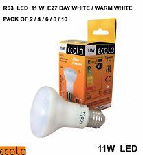 11W LED R63  E27 ECOLA Reflector Light Bulb Lamp  2/4/6/8/10  DAY/ WARM WHITE