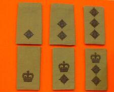 Olive Green Rank Badges Officers Green Rank Slides Olive Black Thread Rank Slide