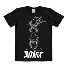 LOGOSHIRT - Comics - Asterix der Gallier - Skizze - Easy Fit - T-Shirt, schwarz