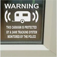 CARAVAN alarm-police controllati Registrazione GPS Allarme Sicurezza stickers-87mm segni