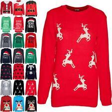 Womens Ladies Christmas Xmas Tree Ya Filthy Animal Knit Bardot Jumper Mini Dress