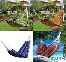 Hamaca Colgar Playa Piscina Jardin Camping 70% Algodon varias Medidas y Colores