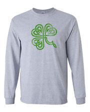 263 Celtic Clover Ireland Long Sleeve Shirt Irish St. Patricks Day party clover