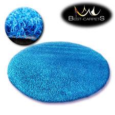Tapis PETIT PRIX ROND POILU 5cm bleu haute qualité NICE en Touche Tapis beaucoup
