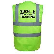 Mantrailing Sicherheitsweste Warnweste lime grün Hundesportweste Weste W1