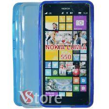 Custodia Cover Per Microsoft Nokia Lumia 550 Gel Silicone TPU Retro Opaco