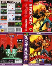 Splatterhouse 3 Sega MegaDrive Genesis Replacement Box Art Case Insert Cover