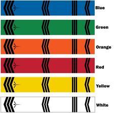 White Water Archery Traditional Chevron Icon Crest Arrow Wraps 15 pc Choose Size