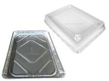 Handi-Foil Half 1/2 Size Sheet Cake Aluminum Foil Baking Pans w/Clear Dome Lids
