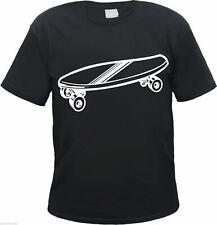 oldschool SKATEBOARD T-Shirt - schwarz - Druckfarbe wählbar - longboard retro