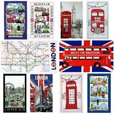 London England Tea Towel Souvenir Novelty Gift  Big Ben Bus British Landmarks