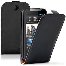 Accessoire Etui Coque Housse PU Cuir Véritable Rabattable HTC Desire 310
