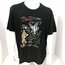 Gap for Good Mens Black Japan Tiger Eagle Graphic Print Shirt Pick a Size