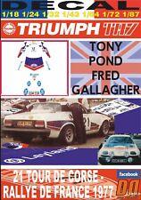 DECAL TRIUMPH TR7 TONY POND TOUR DE CORSE 1977 DnF (08)