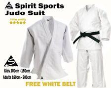 Spirit Adult Traditional White Judo 500grm Student Training Uniform 160-200cm Gi