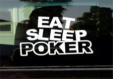 EAT SLEEP POKER VINYL STICKER