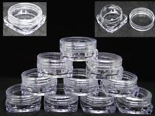 100/200pcs 3ML Square Cosmetic Sample Jars Three Gram Makeup Containers BPA Free