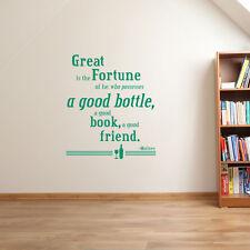 Gran libro de Botella de buena fortuna han amigo es la Pared Adhesivo Calcomanía Vinilo A91