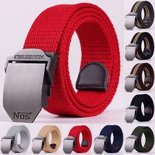 Fashion Metal Buckle Mens Belt Tactical Canvas Belt Leather Canvas Male Belts