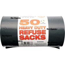 "HEAVY DUTY BLACK REFUSE SACKS BAGS BIN LINERS BAG RUBBISH UK MADE 120L 18x29x34"""
