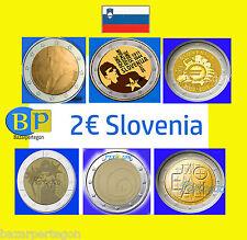 Eslovenia  2 euros conmemorativa Gedenkmünzen  envio combinado Slonija coin euro