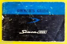 1000 63 1963 Simca Owners Owner's Manual 4 Cyl 4 Spd 4 Door Saloon