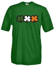 T-Shirt Celtic N19 Irish Flag Vintage Ireland Drunk Drinking Quadrifoglio