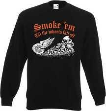 Sweatshirt in schwarz HD-, Biker-,Chopper-&Old Schoolmotiv Modell Smoke em