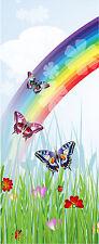 Sticker enfant porte Papillons Arc en ciel réf 1738