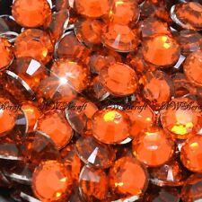 Orange 1000pcs Resin RhinestonesBeads Flat Back Diamante Nail Art Craft Gems