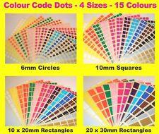 6mm Círculos 10mm Cuadrados - Código de color lunares en Blanco Precio