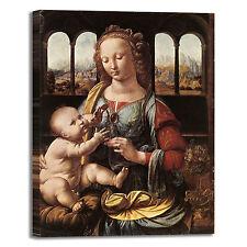 da Vinci Madonna del Garofano quadro stampa tela dipinto telaio arredo casa