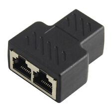 Cat 5 / 6 / 7 Lan Ethernet Socket Splitter Plug Adapter for Router TV BOX PC Lot