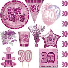 30. COMPLEANNO FUCSIA ROSA NUMERO 30 Party Decorazione da donna con set