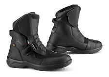 Falco Motorrad Schuhe / Stiefel Land 2 Wasserdicht Black
