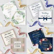 Wedding Invitations Personalised • Handmade Rustic Day Evening • Inc Envelopes