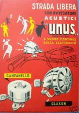 CICLI_BICICLETTE_CAMPANELLO_CLAXON_AVVISATORI UNUS_RARA