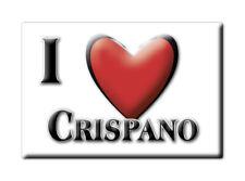 CALAMITA CAMPANIA ITALIA FRIDGE MAGNET MAGNETE SOUVENIR I LOVE CRISPANO (NA)